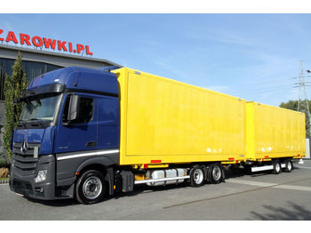 MERCEDES-BENZ MERCEDES-BENZ KRONE SET JUMBO MEGA BDF ACTROS 2542 E6 BOX CONTAINER 2x7.7 m FOR TRAN SET JUMBO MEGA BDF ACTROS 2542 E6 BOX CONTAINER 2x7.7 m FOR TRAN TRAILER MEGA CONTAINER BOX ZZ - box truck