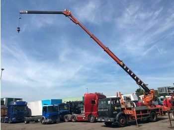 Box truck Mercedes-Benz 1820 FULL STEEL, BOCKER CRANE AN REMOTE CONTROLE