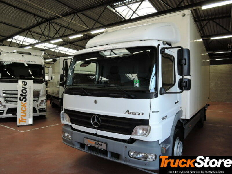 Box Truck Mercedes Benz Atego 1222 S Fahrerhaus Abs 4x2 Picture 1