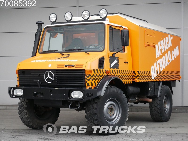 0ee670b5f6 Box truck Mercedes-Benz Unimog 435115 4X4 Rally Raid Service Truck  Cross-Country