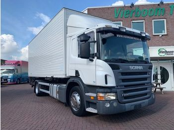 Box truck Scania P230 BAKWAGEN MET LAADKLEP IN PERFECT CONDITION