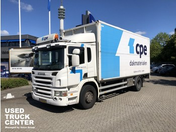 Scania P 230 B 4X2 Plywood box with open side and tailgate - box truck