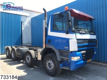 Cab chassis truck DAF 85 CF 340 8x4, Manual, Steel suspension, Airco, PTO