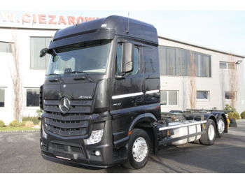 MERCEDES-BENZ 6x2 ACTROS 2542 E6 BDF CHASSIS 90 000 KM!!! - cab chassis truck