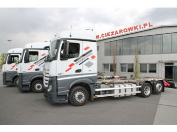 MERCEDES-BENZ ACTROS 2540 6x2 E6 BDF CHASSIS LOW DECK MEGA - cab chassis truck