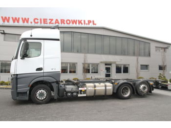 MERCEDES-BENZ ACTROS 2542 6x2 E6 CHASSIS BDF MEGA LOW DECK - cab chassis truck