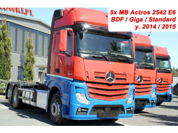 MERCEDES-BENZ ACTROS 2542 E6 BDF GIGA CHASSIS 5 UNITS! - cab chassis truck