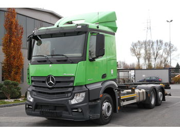 MERCEDES-BENZ ACTROS 2545 MP4 RETARDER LIFT 1500 kg E6 BDF CHASSI SMALL CABIN - cab chassis truck