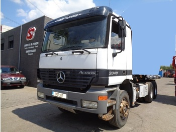 Cab chassis truck Mercedes-Benz Actros 3340 transformable en tracteur lames/Steel