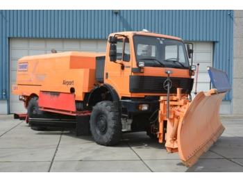 Cab chassis truck Mercedes SK 2031 4x4x4 Schmidt CJS9 airport sweeper snow plough