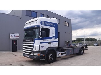 Scania 114 - 380 Topline (BELGIAN TRUCK / PERFECT / TWISTLOCKS) - cab chassis truck