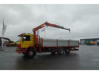 Cab chassis truck Scania P92.270 6X2 MANUAL FULL STEEL HIAB 985