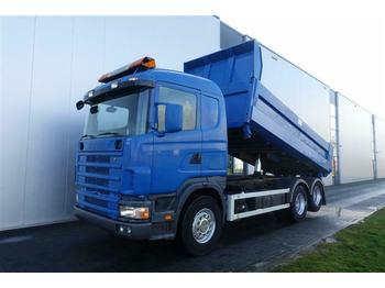 Cab chassis truck Scania R124.400 6X2 DUMPER FULL STEEL
