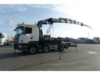 Scania R480 8X2 HMF ODIN-O K5 WITH JIB EURO 4  - cab chassis truck