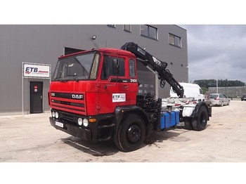 DAF 2100 (HIAB CRANE / FULL STEEL/ HOLLAND TRUCK) - container transporter/ swap body truck