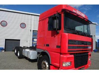 Container transporter/ swap body truck DAF 95XF-430 / SPACECAB / MANUAL / RETARDER / EURO-2 /