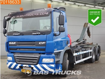 Container transporter/ swap body truck DAF CF85.360 6X2 VDL Hooklift Liftachse Euro 5