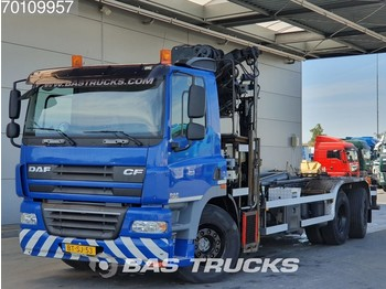 DAF CF85.410 6X2 Manual Lenkachse Euro 5 Hiab 220-3 - container transporter/ swap body truck
