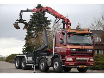 DAF CF85/410 FAD 8x4 !!Z-KRAAN/HAAK!! EURO5!!MANUEL!!2011!! - container transporter/ swap body truck