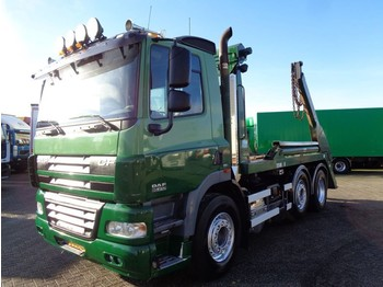 Container transporter/ swap body truck DAF CF85.410 + Manual + Euro 5 + pto