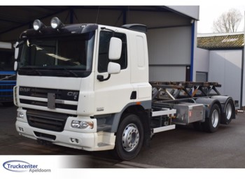 Container transporter/ swap body truck DAF CF 75 - 250, 52000 km, Wechselsystem, 6x2, Pto