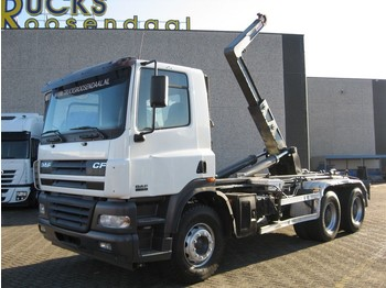 DAF CF 85.430 + 6x4 STEEL + hooksystem + Manual - container transporter/ swap body truck