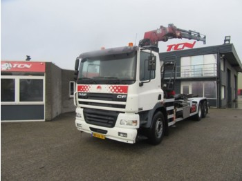 DAF CF 85 430 HAAK + HMF 2220 - container transporter/ swap body truck