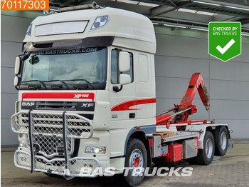 Container transporter/ swap body truck DAF XF105 510 6X2 Intarder Manual Xenon Euro 5