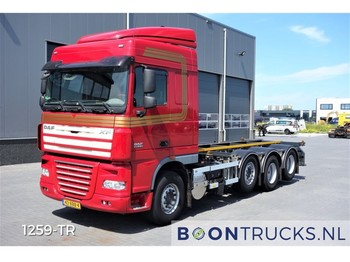 DAF XF105.510 8X2 | MANUAL 20 ft CONTAINERFRAME - container transporter/ swap body truck