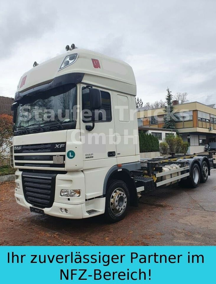container transporter/ swap body truck DAF XF 105 410 SSC EEV 6X2 BDF Twistlock Fahrgestell
