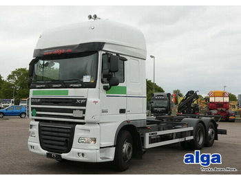 DAF XF 105.410 T/Fahrschulausrüstung/Orig. 138 Tkm!  - container transporter/ swap body truck