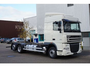 Container transporter/ swap body truck DAF XF 105.460 BDF +2 Hubschwingen SpaceCab E5