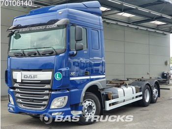 Container transporter/ swap body truck DAF XF 460 6X2 Intarder Liftachse Euro 6