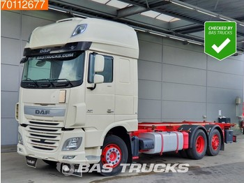 DAF XF 460 6X2 SSC Intarder Standklima Liftachse Navi Euro 6 - container transporter/ swap body truck