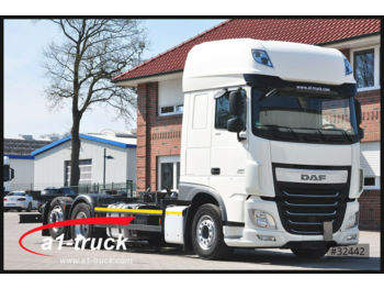 Container transporter/ swap body truck DAF XF 460 FAR Multiwechsler C 7.45 / 7.82 2x AHK,