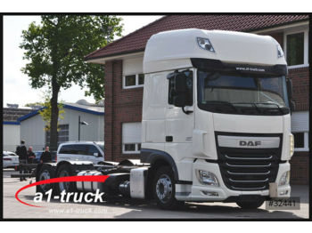 Container transporter/ swap body truck DAF XF 460 Jumbo, ZF-Intarder, ACC, 7,82 WB