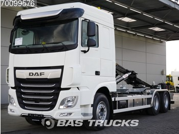 Container transporter/ swap body truck DAF XF 480 6X2 NEW! OId-Tacho! HYVA Hooklift Full Safety Options!