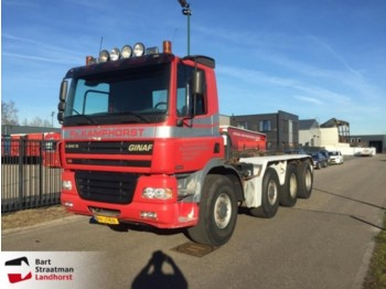 Ginaf X 4243 TS 8x4 manual met kettingsysteem en kippercontainer - container transporter/ swap body truck