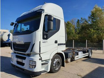 Container transporter/ swap body truck Iveco AS190S42 EEV