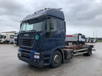 Container transporter/ swap body truck Iveco AS 190 BDF, Automatic , LBW