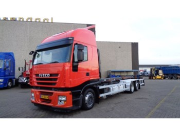 Container transporter/ swap body truck Iveco Stralis 420 + 6x2 + euro 5 + retarder