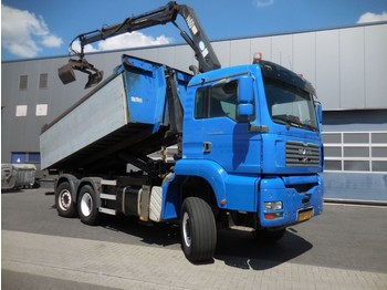 Container transporter/ swap body truck MAN 28.430, 6x4*4, HMF 1460, Haak-arm, Container: picture 1