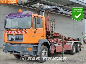 MAN F2000 Commander 26.314 6X2 Manual Big-Axle Euro 2 Hiab 102-2 - container transporter/ swap body truck