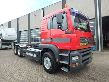 Container transporter/ swap body truck MAN TGA 410 + MANUAL! + Kablesystem