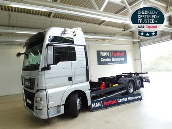 Container transporter/ swap body truck MAN TGX 26.440 6X2-2 LL