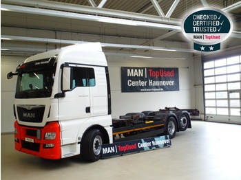 MAN TGX 26.440 6X2-4 LL, Euro 6, 4.800 mm Radst. - container transporter/ swap body truck