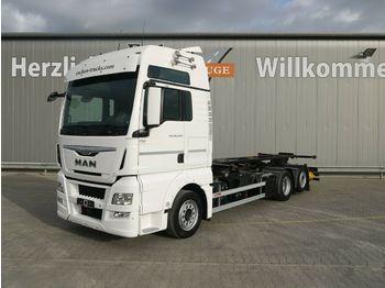 Container transporter/ swap body truck MAN TGX 26.440 LL Intarder*Göbel Multi Hub*Lenk/Lift