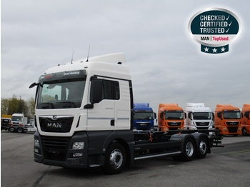 Container transporter/ swap body truck MAN TGX 26.460 6X2-2 LL, Euro 6, XLX, Intarder, Navi