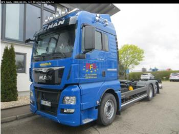 Container transporter/ swap body truck MAN TGX 26.480 6x2-2 LL Euro6 ULBW Top Torque