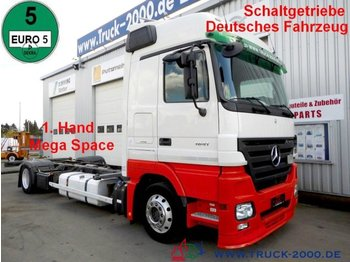 Container transporter/ swap body truck Mercedes-Benz 1841 Actros Mega Space *Schaltgetriebe* Deutsch